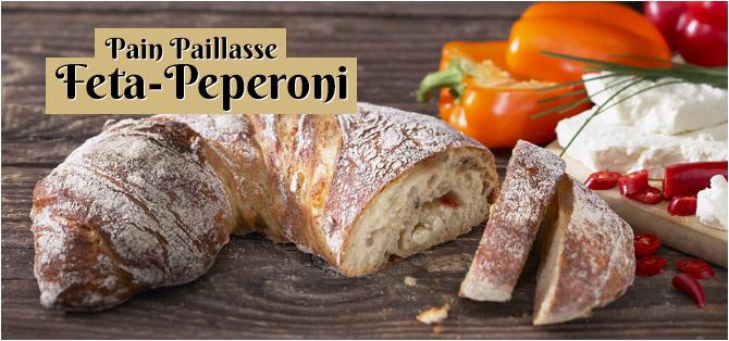 Pain Paillasse Feta-Peperoni