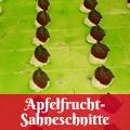 Apfelfrucht-Sahneschnitte