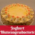 Joghurt Blutorangesahnetorte