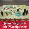 Geburtstagstorte mit Marzipansee