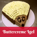 Buttercreme Igel